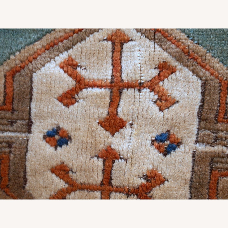 Handmade Vintage Caucasian Kazak Rug - image-10