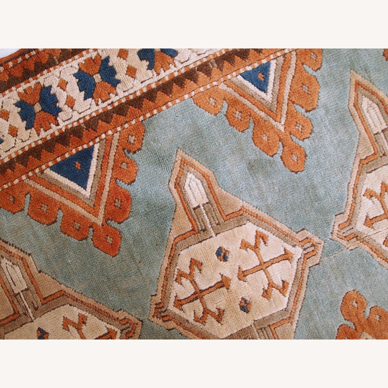 Handmade Vintage Caucasian Kazak Rug - image-5