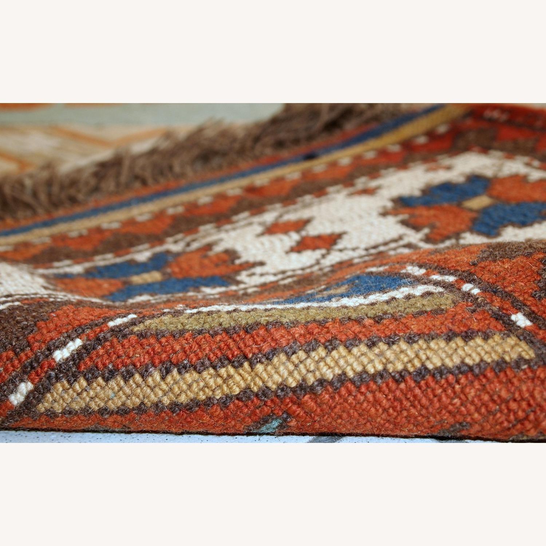 Handmade Vintage Caucasian Kazak Rug - image-11