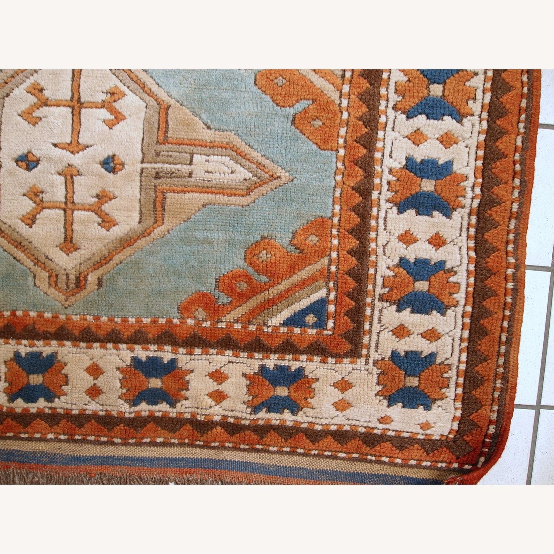 Handmade Vintage Caucasian Kazak Rug - image-9