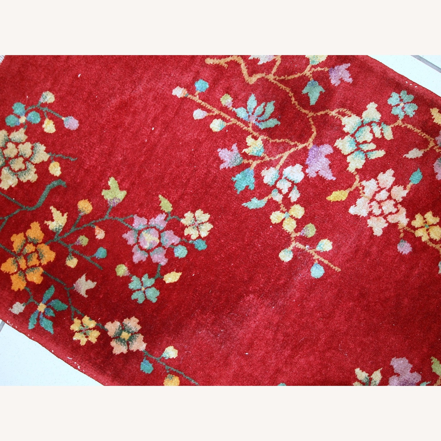 Handmade Antique Art deco Chinese Rug - image-8