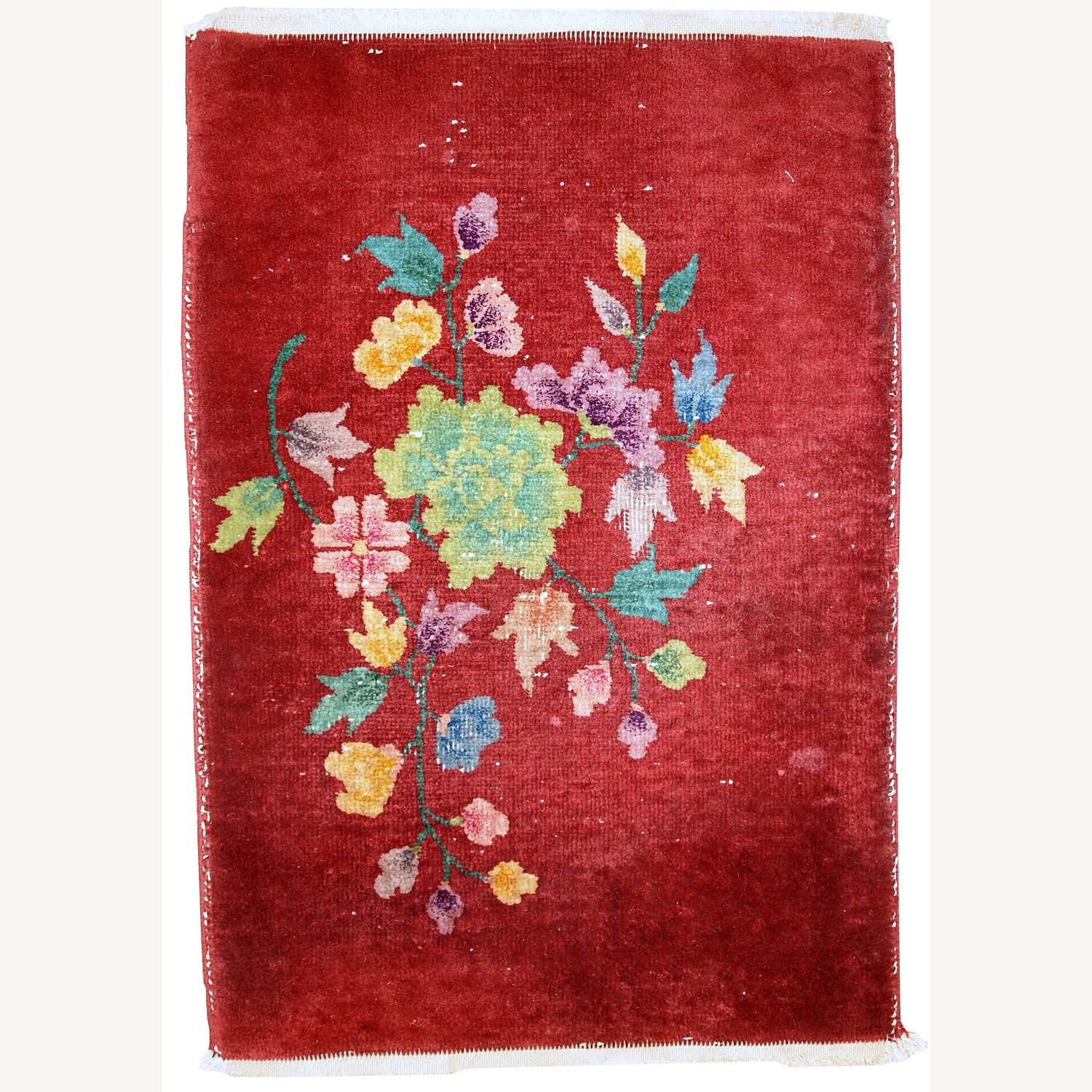 Handmade Antique Art deco Chinese Rug - image-1