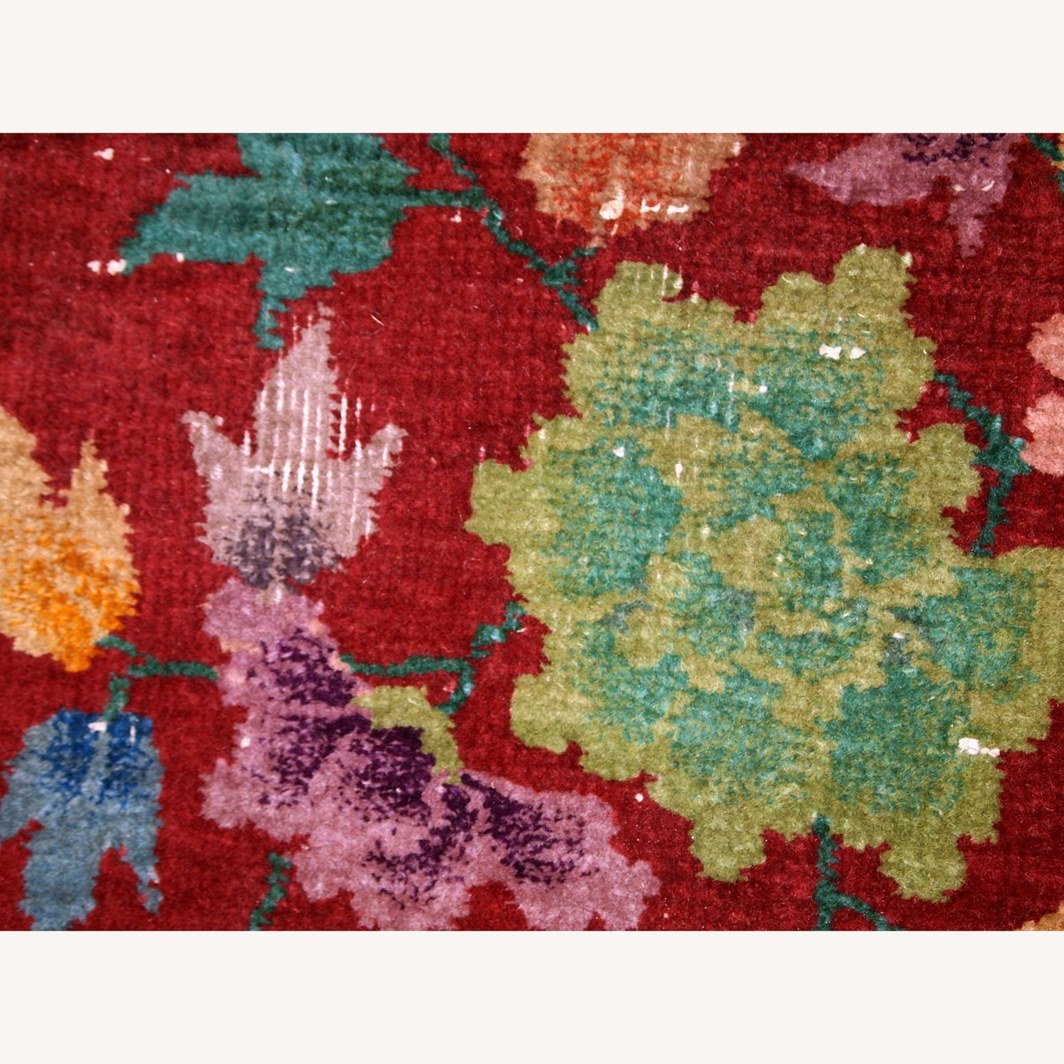 Handmade Antique Art deco Chinese Rug - image-9