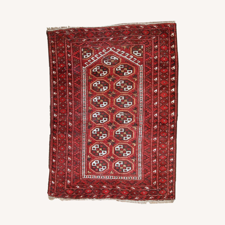 Handmade Antique Afghan Adraskand Rug - image-0