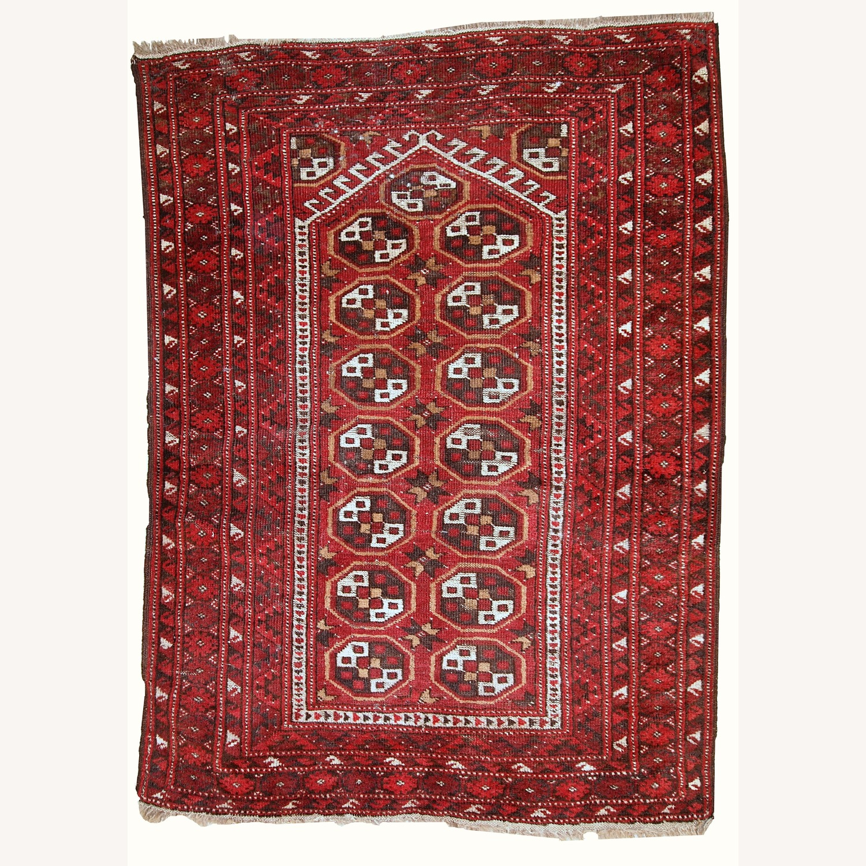 Handmade Antique Afghan Adraskand Rug - image-1