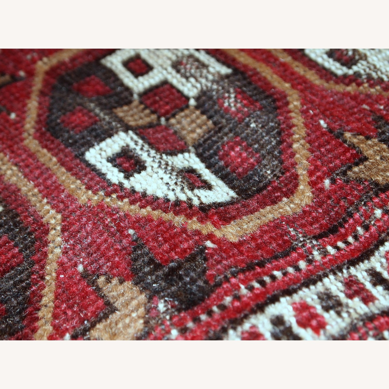 Handmade Antique Afghan Adraskand Rug - image-10