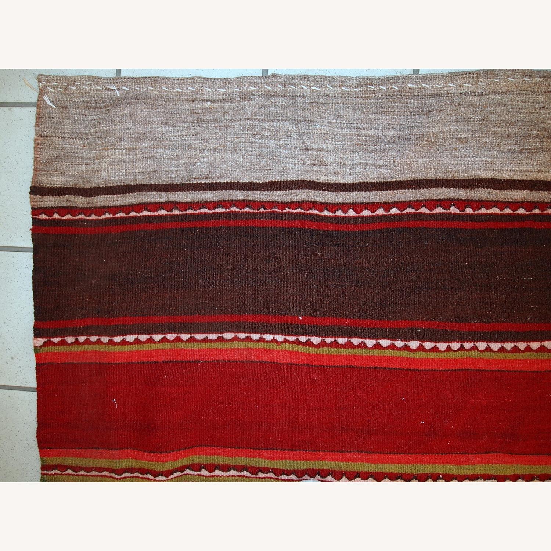 Handmade Vintage Persian Ardabil Kilim Runner - image-9