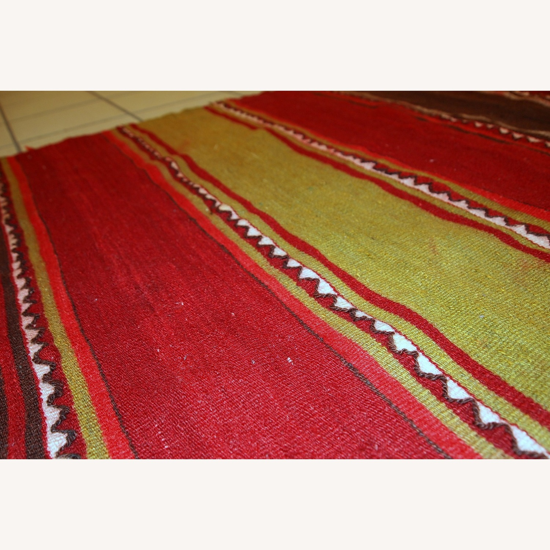 Handmade Vintage Persian Ardabil Kilim Runner - image-6
