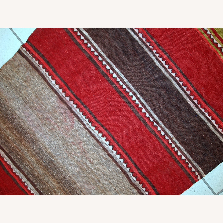 Handmade Vintage Persian Ardabil Kilim Runner - image-11