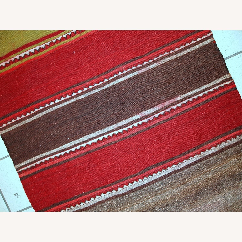 Handmade Vintage Persian Ardabil Kilim Runner - image-5