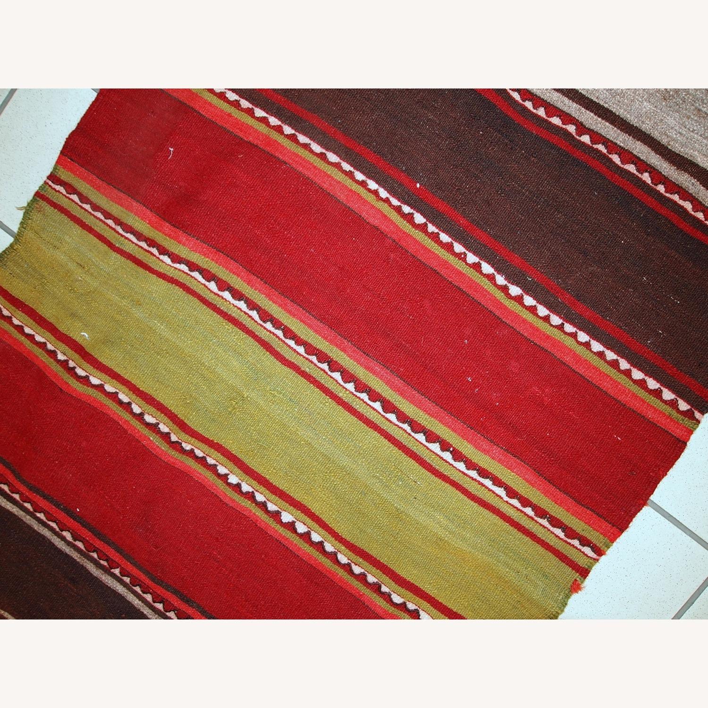 Handmade Vintage Persian Ardabil Kilim Runner - image-8