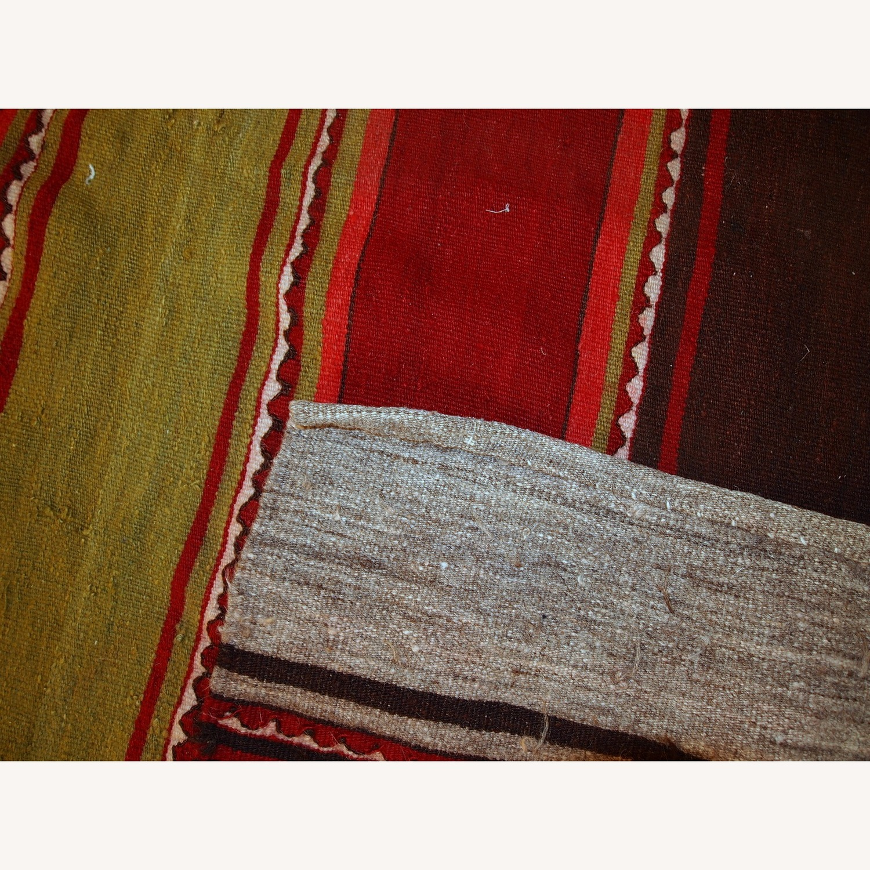 Handmade Vintage Persian Ardabil Kilim Runner - image-4