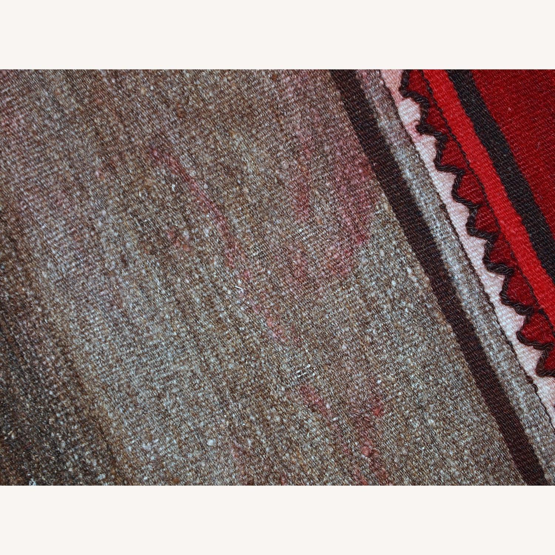 Handmade Vintage Persian Ardabil Kilim Runner - image-10