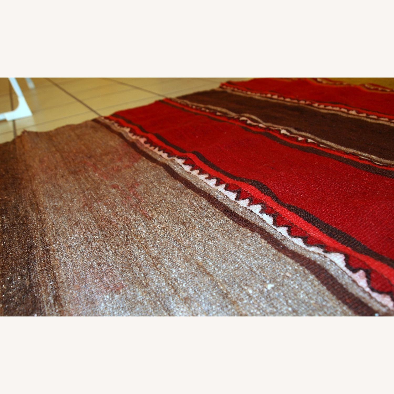 Handmade Vintage Persian Ardabil Kilim Runner - image-7