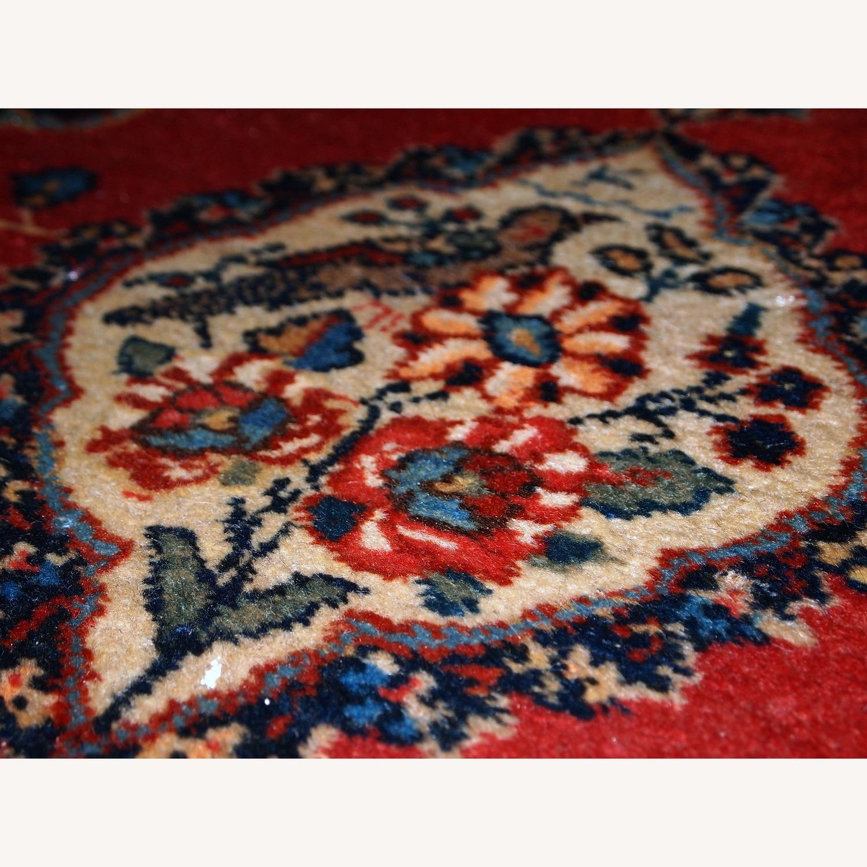 Handmade Antique Persian Tabriz Double Mat Rug - image-8