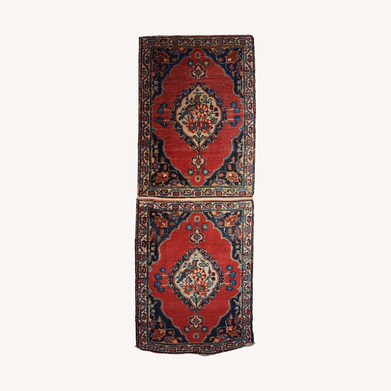 Handmade Antique Persian Tabriz Double Mat Rug - image-0