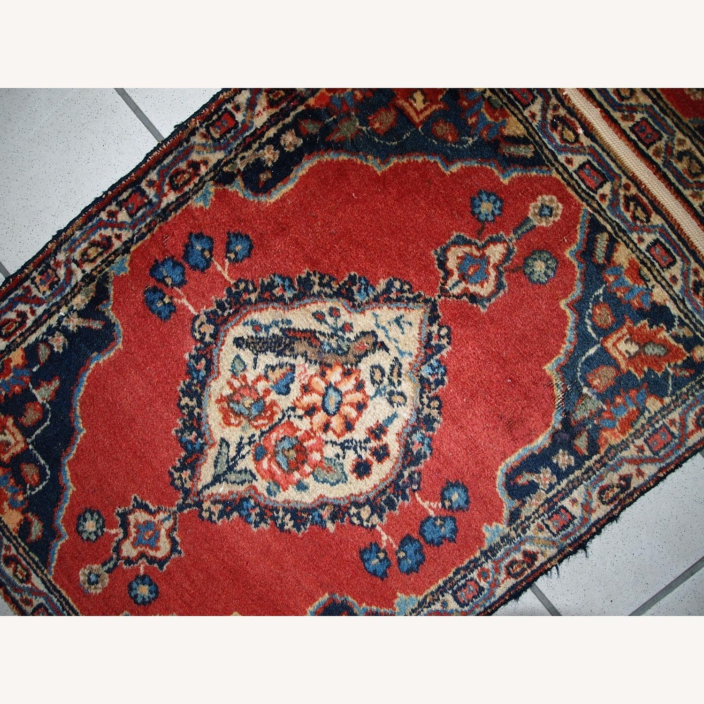 Handmade Antique Persian Tabriz Double Mat Rug - image-5