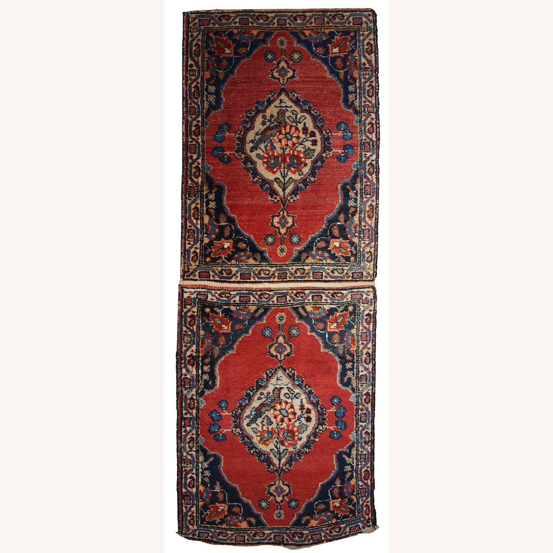 Handmade Antique Persian Tabriz Double Mat Rug - image-1