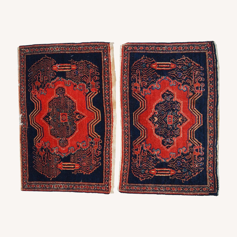 Handmade Antique Persian pair of Senneh Rugs - image-0