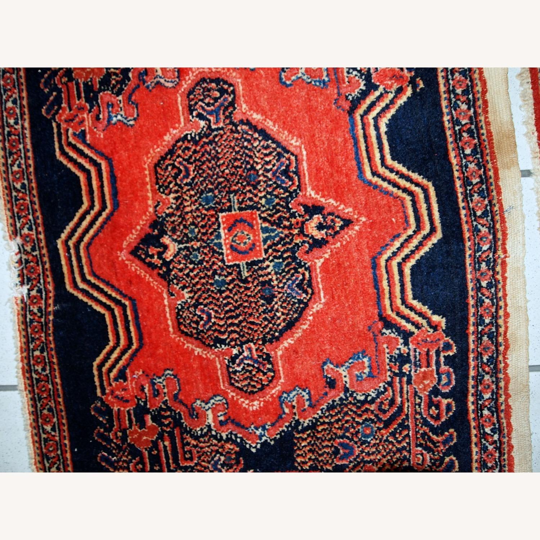 Handmade Antique Persian pair of Senneh Rugs - image-9