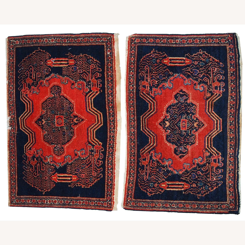 Handmade Antique Persian pair of Senneh Rugs - image-1