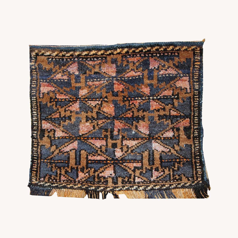 Handmade Antique Collectible Uzbek Bag Face - image-0