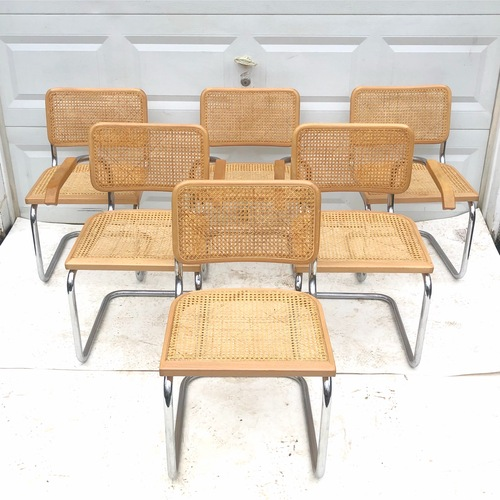 Used Vintage Modern Cesca Style Dining Chairs- Six for sale on AptDeco