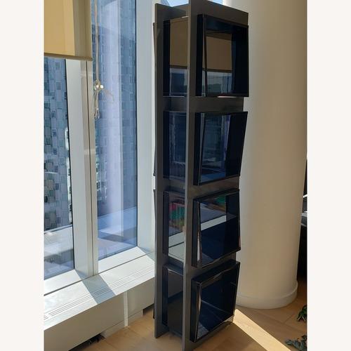 Used Lazzoni Gray/Black Lacquer Bookcase for sale on AptDeco