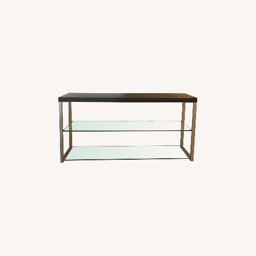 Used BoConcept Glass Shelves with Wood Countertop for sale on AptDeco