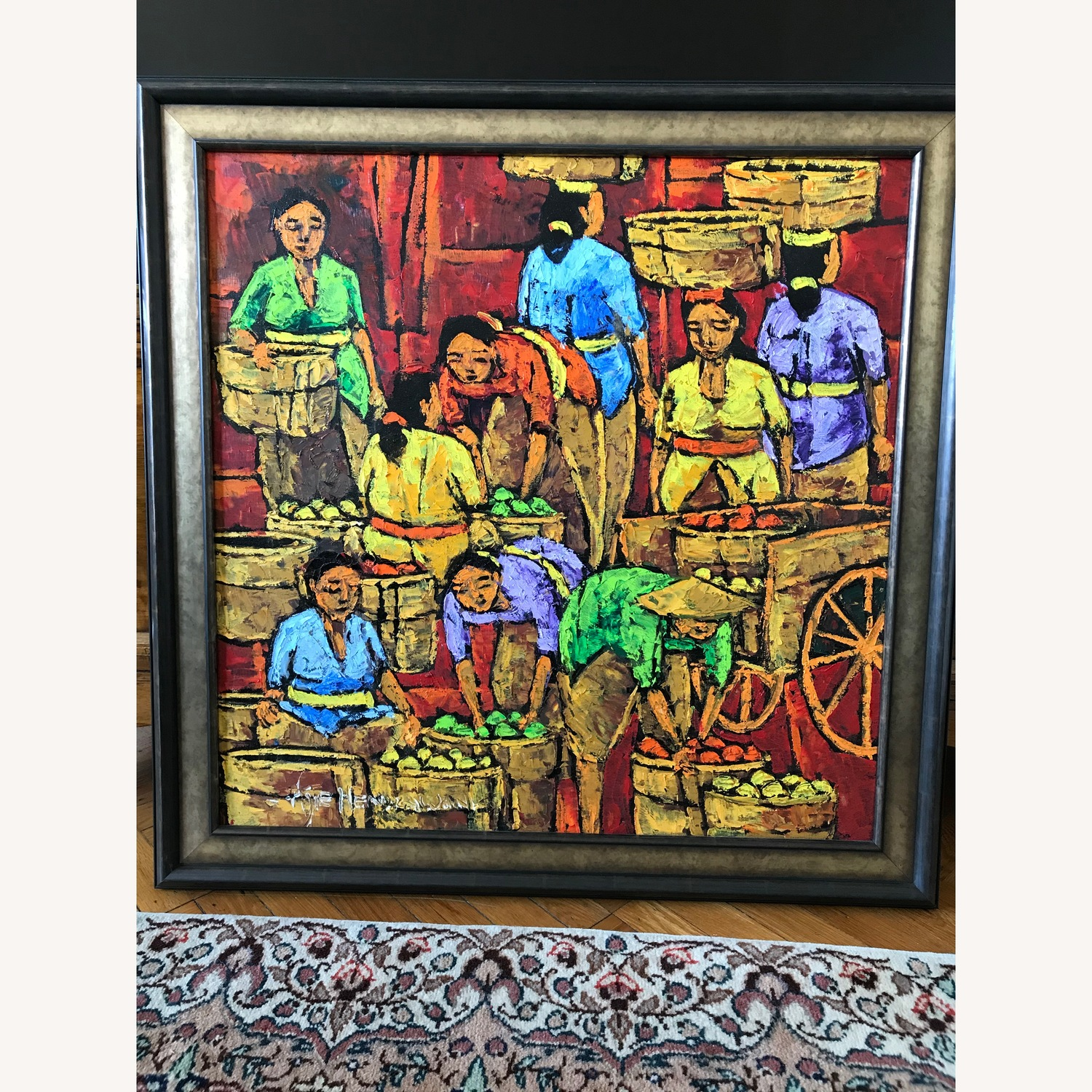 Wall Art by a Local Balinese Painter - image-1