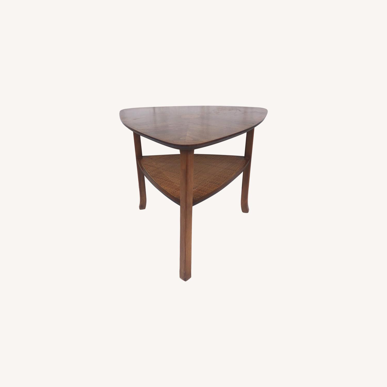 Mid-Century Triangular End Table - image-0