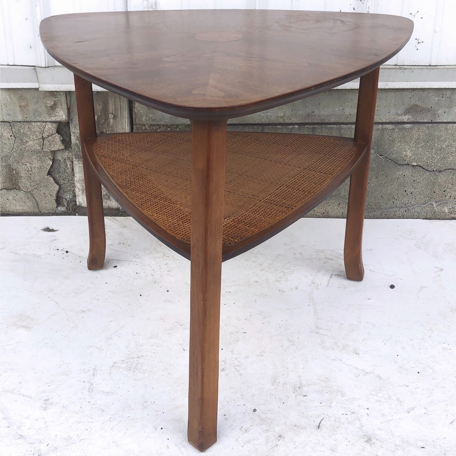 Mid-Century Triangular End Table - image-1