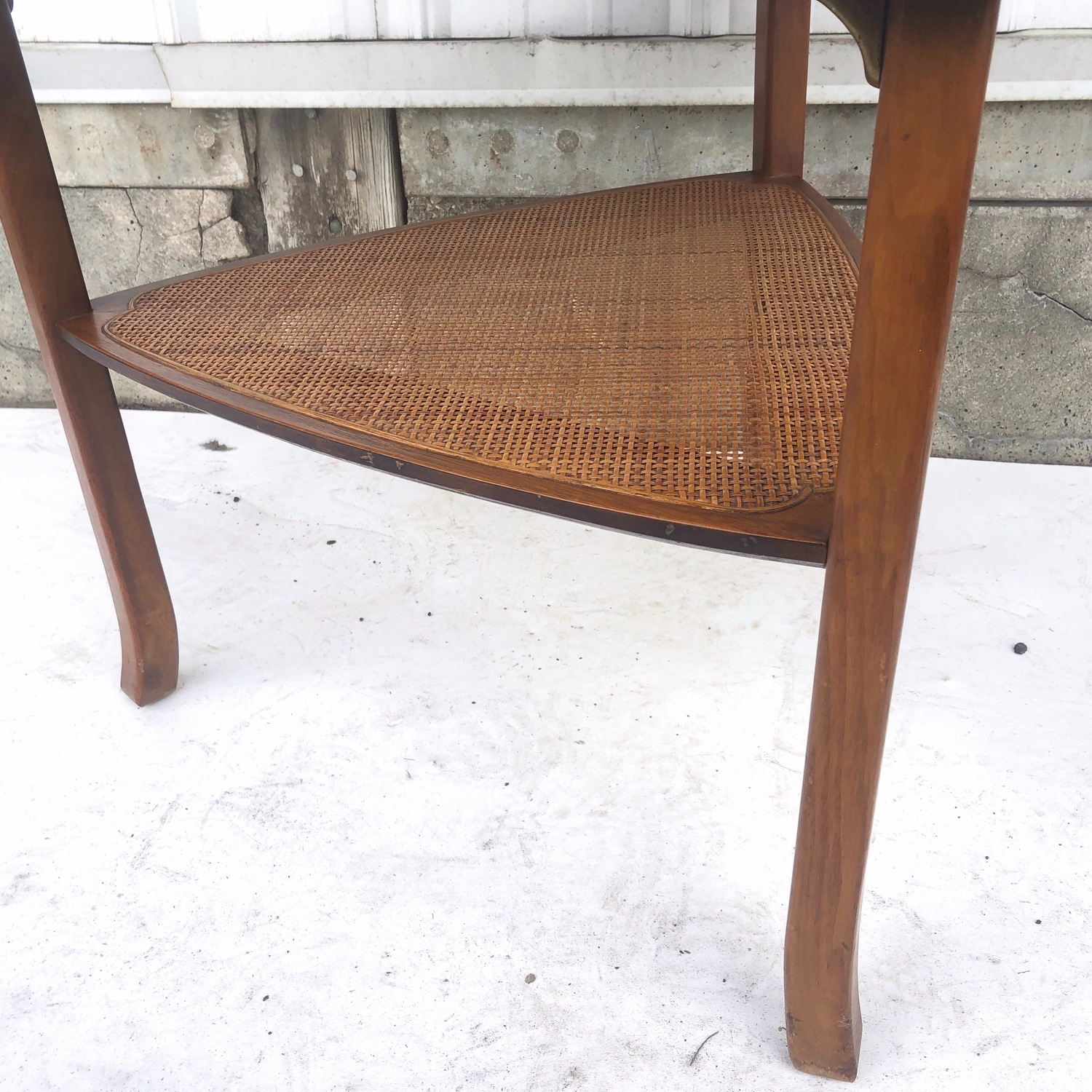 Mid-Century Triangular End Table - image-4