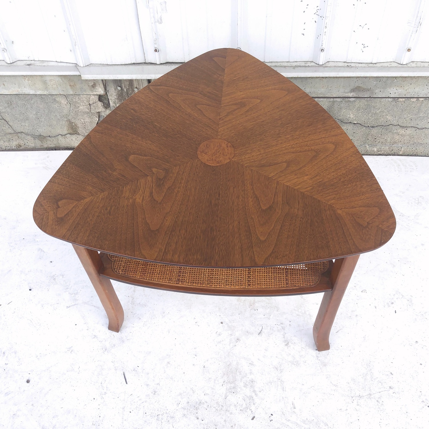 Mid-Century Triangular End Table - image-5