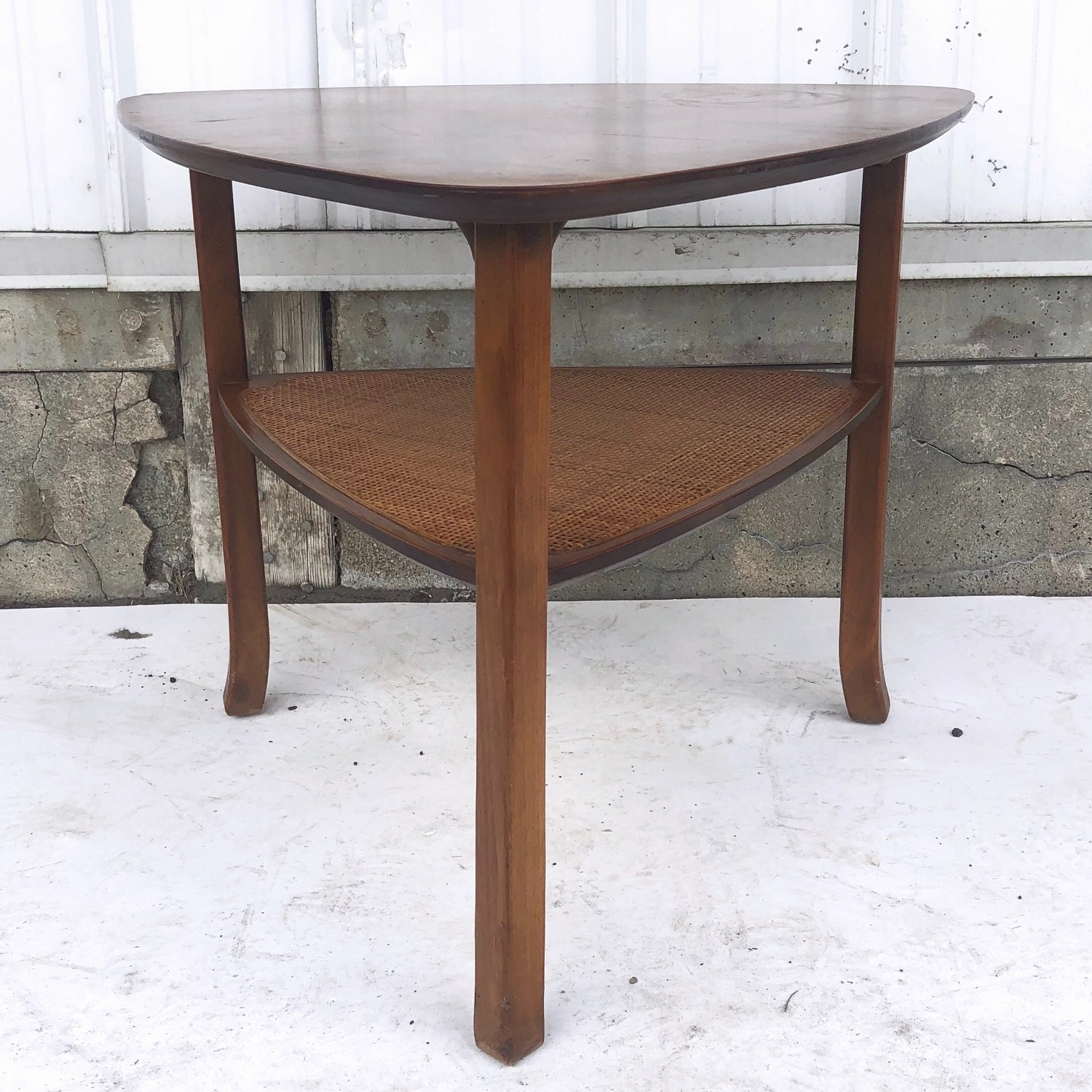 Mid-Century Triangular End Table - image-3