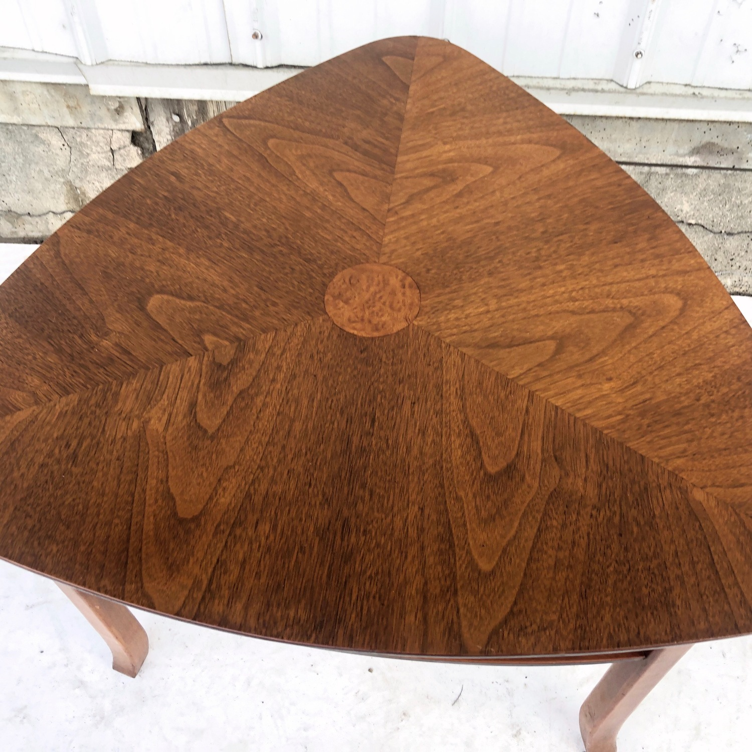 Mid-Century Triangular End Table - image-6
