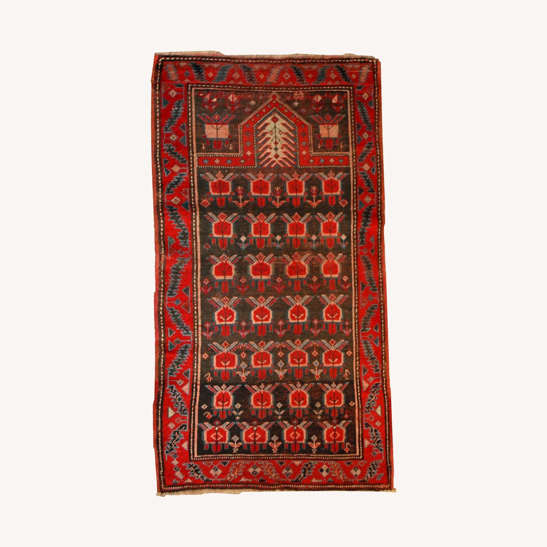 Handmade Antique Caucasian Karabagh Rug - image-0