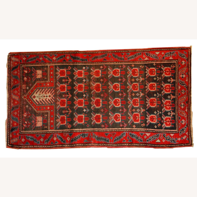 Handmade Antique Caucasian Karabagh Rug - image-3