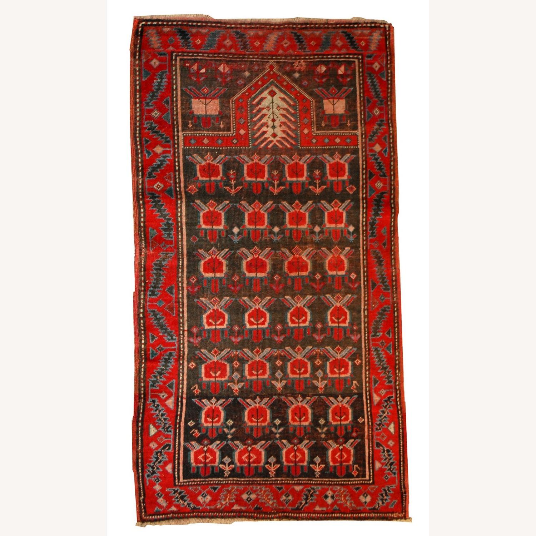 Handmade Antique Caucasian Karabagh Rug - image-1