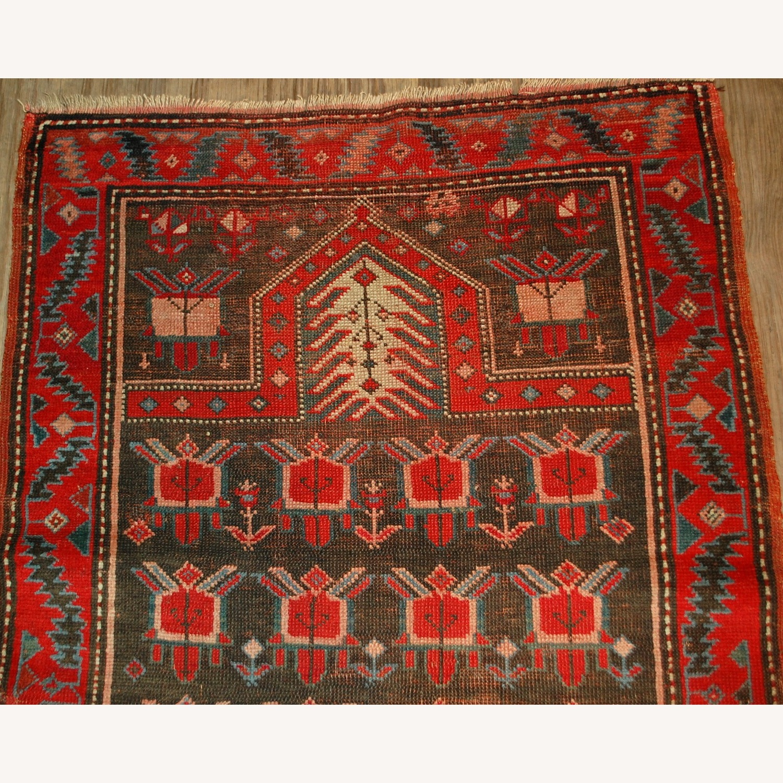 Handmade Antique Caucasian Karabagh Rug - image-7