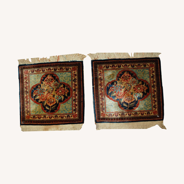 Handmade Antique Persian pair of Dabir Kashan Rugs - image-0