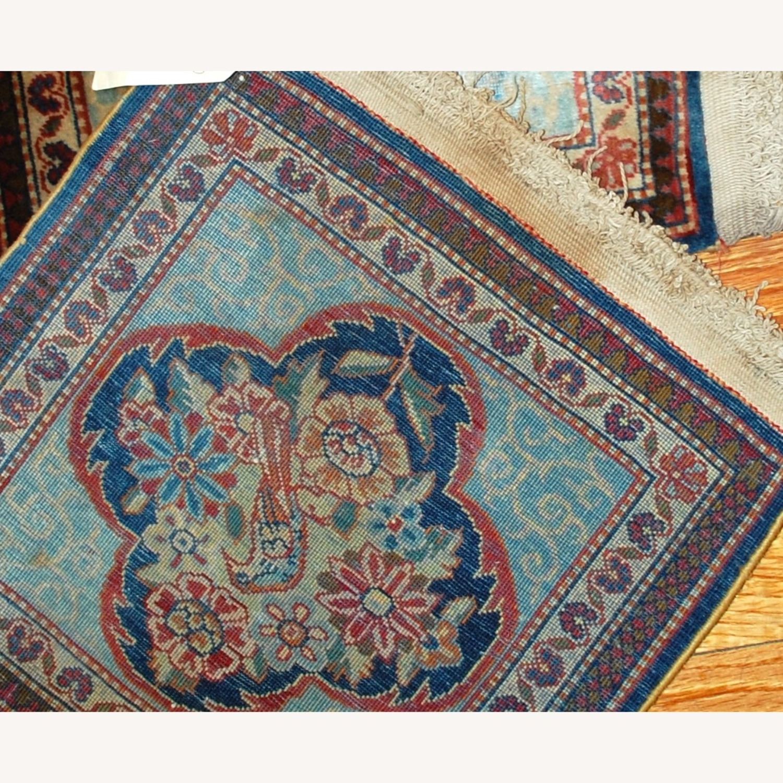 Handmade Antique Persian pair of Dabir Kashan Rugs - image-6