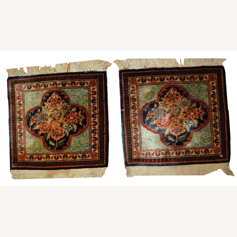 Handmade Antique Persian pair of Dabir Kashan Rugs - image-1