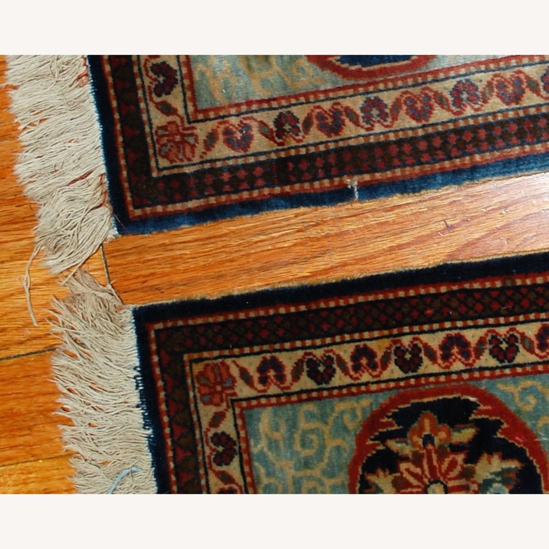 Handmade Antique Persian pair of Dabir Kashan Rugs - image-4