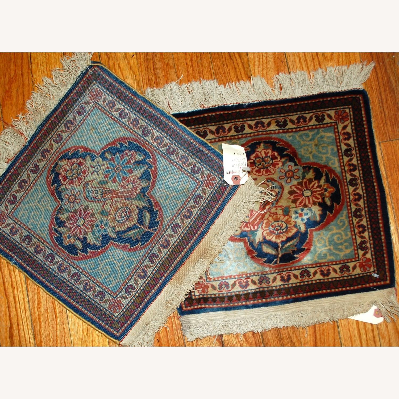 Handmade Antique Persian pair of Dabir Kashan Rugs - image-9