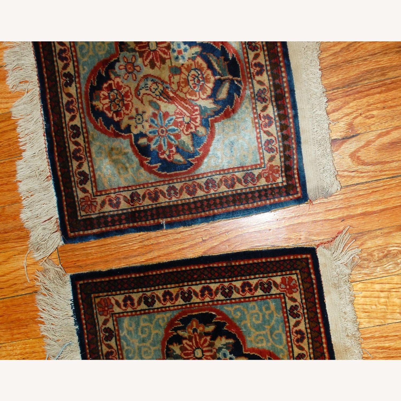 Handmade Antique Persian pair of Dabir Kashan Rugs - image-8
