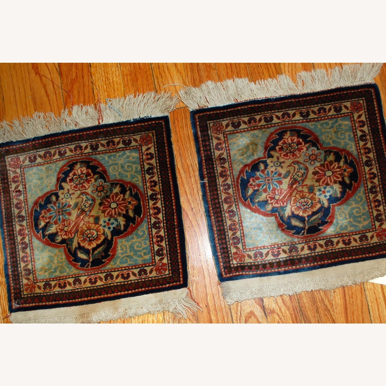 Handmade Antique Persian pair of Dabir Kashan Rugs - image-7