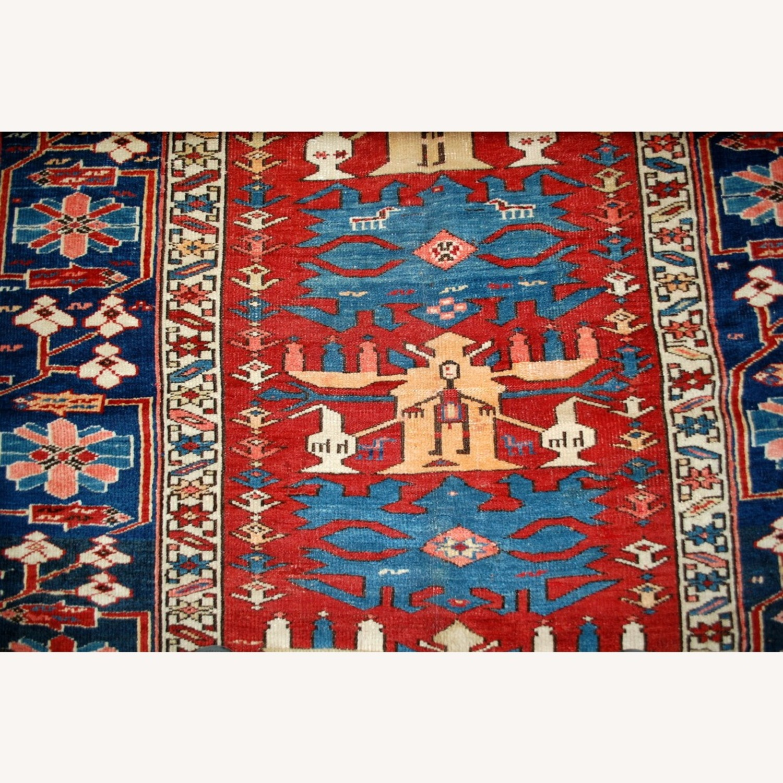 Handmade Antique Caucasian Azerbaijani Shirvan Rug - image-10