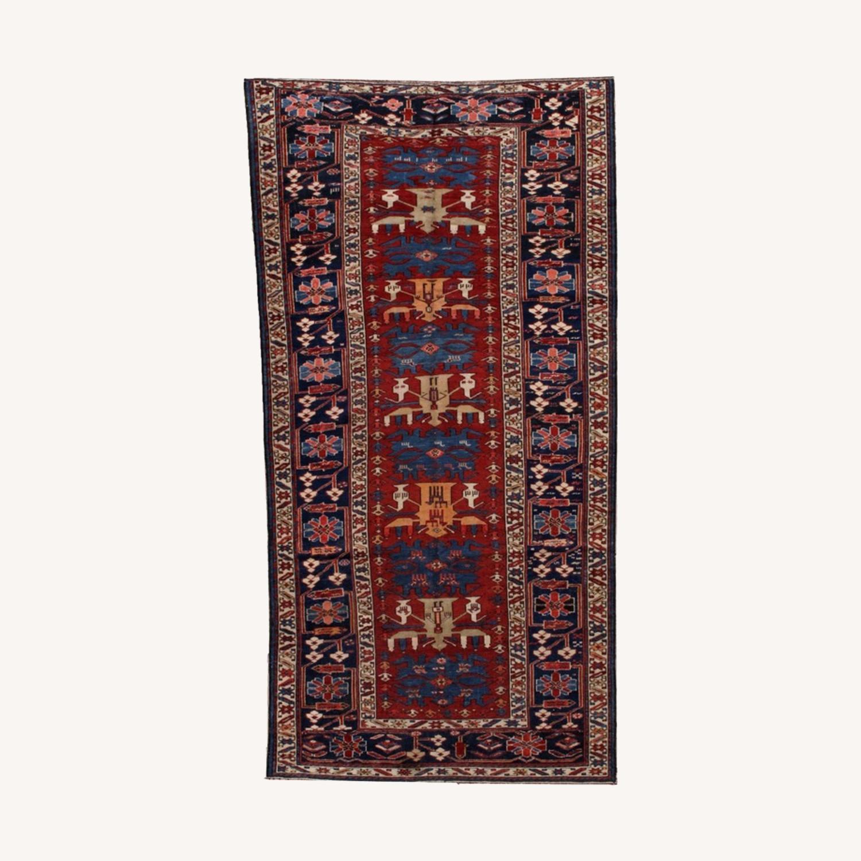 Handmade Antique Caucasian Azerbaijani Shirvan Rug - image-0