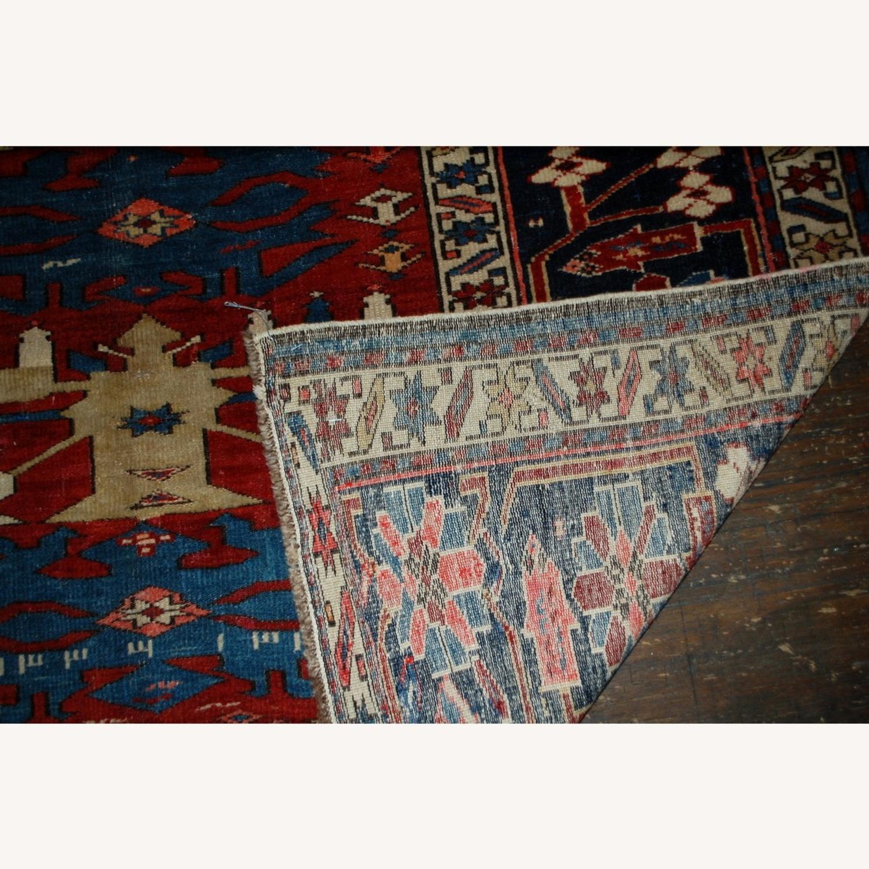 Handmade Antique Caucasian Azerbaijani Shirvan Rug - image-4